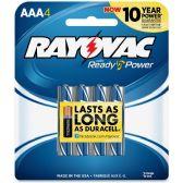 144 Units of Rayovac 824-4F Mercury Free Alkaline Batteries, AAA 4 Pk - Office Supplies