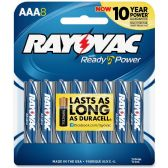 72 Units of Rayovac 824-4F Mercury Free Alkaline Batteries, AAA 4 Pk - Office Supplies