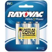 96 Units of Rayovac A1604-2F Alkaline 9-Volt Battery - Batteries