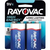 144 Units of Rayovac Alkaline 9V Battery, Blue/Gray - Batteries