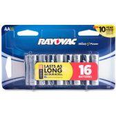 36 Units of Rayovac Alkaline AA Batteries - Office Supplies