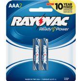216 Units of Rayovac Alkaline AAA Batteries - Office Supplies