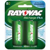 42 Units of Rayovac PL713-2 Rechargeable D Battery - Batteries