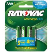 42 Units of Rayovac PL724-4 Rechargeable AAA Battery - Batteries