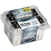 6 Units of Rayovac R9VL-8 9 Volt Lithium Battery - Batteries