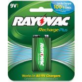 66 Units of Rayovac Rechargeable 9-Volt Battery - Batteries