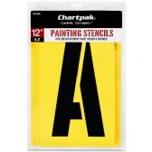 11 Units of Chartpak Painting Stencil Set - Paint