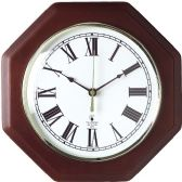 Chicago Lighthouse Octagon Mahogany Frame Clock - Tags
