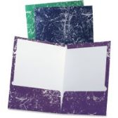 5 Units of TOPS Oxford Marble Laminated Twin Pocket Folders - Folders & Portfolios