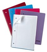 48 Units of TOPS Oxford™ Single Wire Notebook, 11 1/2 x 8 1/2, 1 Subject, Assorted Covers, 80 Sheets, College Ruled - Notebooks