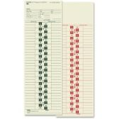 4 Units of TOPS Semi-monthly Manila Time Cards - Office Supplies