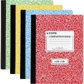 TOPS Wide Ruled Composition Books - Office Supplies