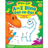 132 Units of Trend A to Z Dino Dot to Dot Wipe-off Book Learning Printed Book - Classroom Learning Aids