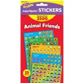 Trend Animal Friends superShapes Stickers - Classroom Learning Aids