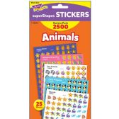 Trend Animals superShapes Stickers Variety Pack - Classroom Learning Aids