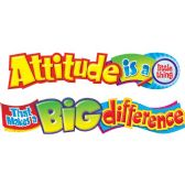 Trend Attitude Is A Little Thing Colorful Banner - Office Supplies