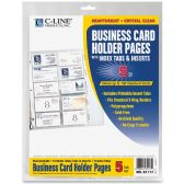C-line Business Card Refill Pages - Business cards
