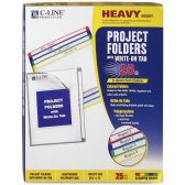 30 Units of C-line Write-on Project Folder - Folders & Portfolios