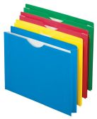 10 Units of Color Reinforced File Jackets, Letter size, Assorted - File Folders & Wallets