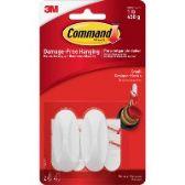 282 Units of Command Designer Adhesive Plastic Hooks - Sign