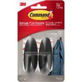 Command™ Medium Black Designer Hooks - Sign