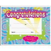 Trend Certificate of Congratulation - Classroom Learning Aids