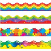 Trend Color Blast Bolder Borders Variety Pack - Classroom Learning Aids