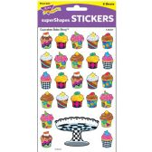 246 Units of Trend Colored Cupcake Bakeshop Stickers - Classroom Learning Aids