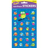 246 Units of Trend Colored Owl superShapes Stickers - Classroom Learning Aids
