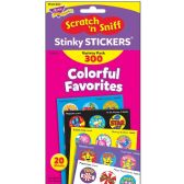 Trend Colorful Favorites Stinky Stickers Variety Pack - Classroom Learning Aids