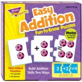 Trend Easy Addition Fun-to-Know Puzzles - Classroom Learning Aids