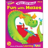 132 Units of Trend Fun with Mazes Wipe-off Book Learning Printed Book - Classroom Learning Aids