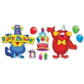 48 Units of Trend Furry Friends Birthday Fun Bulletin Board Set - Bulletin Boards & Push Pins