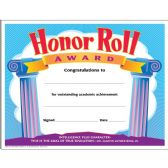 Trend Honor Roll Award Certificate - Classroom Learning Aids