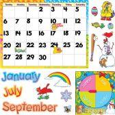 48 Units of Trend Monthly Calendar Bulletin Board Set - Calendar