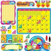 48 Units of Trend Owl-Stars Calendar Bulletin Board Set - Calendar