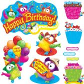 Trend Owl-Stars! Birthday Bulletin Board Set - Bulletin Boards & Push Pins