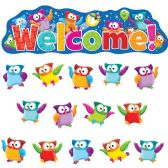 Trend Owl-Stars! Welcom Bulletin Board Set - Bulletin Boards & Push Pins
