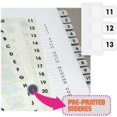 Redi-Tag Preprinted 11-20 Numbered Index Tabs - Tags