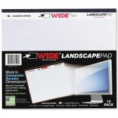 48 Units of Roaring Spring Wide Landscape Graph Paper Pad - Paper