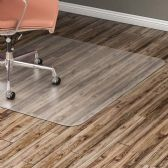 Lorell Nonstudded Design Hardwood Surface Chairmat - Sign