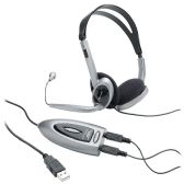 Compucessory Multimedia USB Stereo Headset - Flash Drives