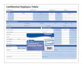 Confidential Employee Folder - Folders & Portfolios