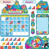 48 Units of Trend Sea Buddies Calendar Bulletin Board Set - Calendar