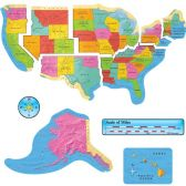 Trend US Map Bulletin Board Set - Bulletin Boards & Push Pins