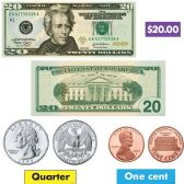 Trend US Money Bulletin Board Set - Bulletin Boards & Push Pins