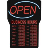 Royal Sovereign LED Open with Business Hours Sign English - Pens & Pencils