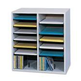 Safco 16 Compartments Adjustable Shelves Literature Organizer - Organizer