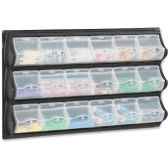 9 Units of Safco 18-Pocket Panel Bins - Storage and Organization