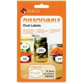 Maco Dissolvable Label, Large Oval - Labels